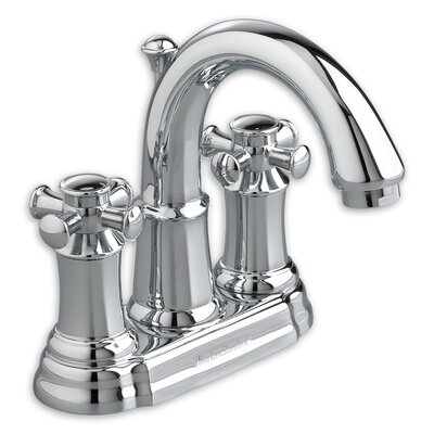 Portsmouth Centerset Bathroom Faucet with Double Cross Handles Finish: Polished Chrome