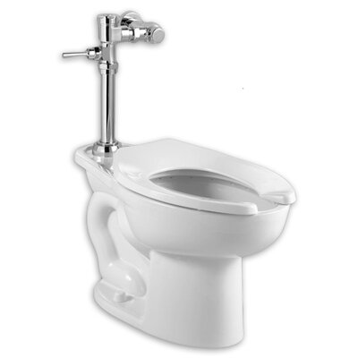 Bed Bath-Madera Manual System Flush Valve 1.28 GPF Elongated 1 Piece Toilet with EverClean Elongated