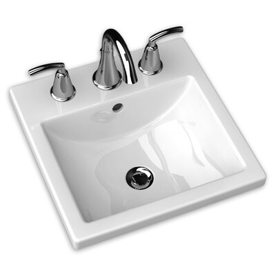 Studio Carre Self Rimming Bathroom Sink 8 Faucet Mount: Single Hole