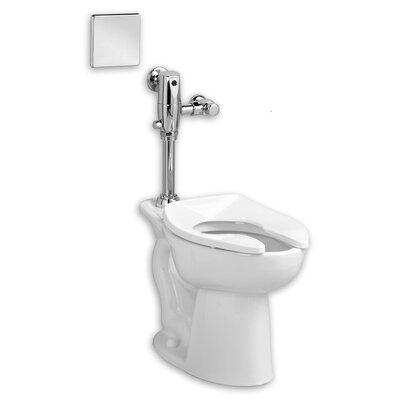 Afwall System Selectronic Exposed AC Flush Valve 1.28 GPF Elongated One-Piece Toilet