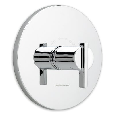 Berwick Central Thermostatic Shower Faucet Trim with Lever Handles Finish: Polished Chrome