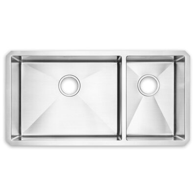 35 x 18  Double Basin Undermount Kitchen Sink
