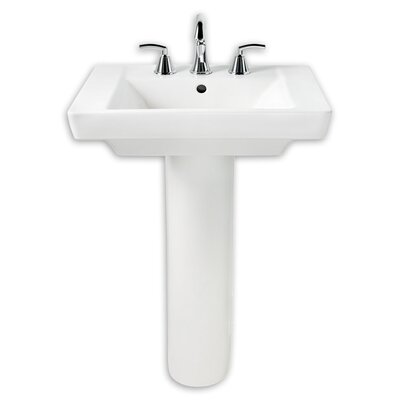 Boulevard Vitreous China 36 Pedestal Bathroom Sink with Overflow