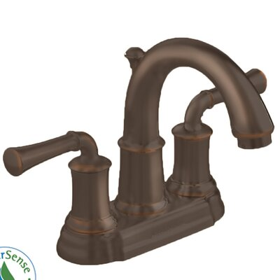 Portsmouth Centerset Bathroom Faucet with Double Lever Handles Finish: Oil Rubbed Bronze