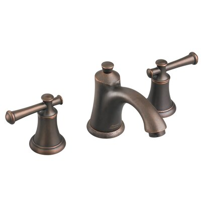 Portsmouth Widespread Bathroom Faucet with Double Lever Handles Finish: Oil Rubbed Bronze