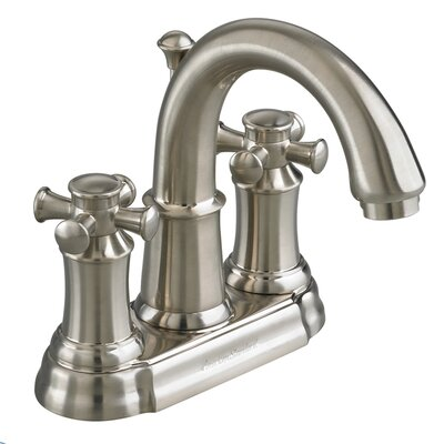 Portsmouth Centerset Bathroom Faucet with Double Cross Handles Finish: Satin Nickel