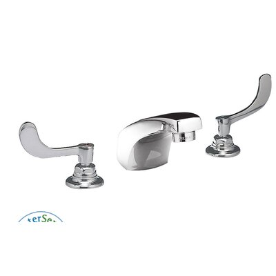Monterrey Widespread Bathroom Faucet with Double Wrist Blade Handles Optional Accessory: With Drain