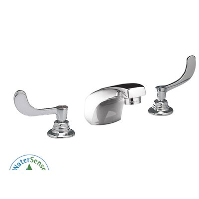 Monterrey Widespread Bathroom Faucet with Double Wrist Blade Handles Optional Accessory: Without Drain