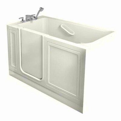 51 x 30 Walk In Combo Whirlpool Bathtub Drain Location: Left, Color: Linen