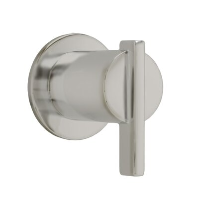 Berwick On/Off Volume Control Shower Faucet Trim with Lever Handle Finish: Satin Nickel