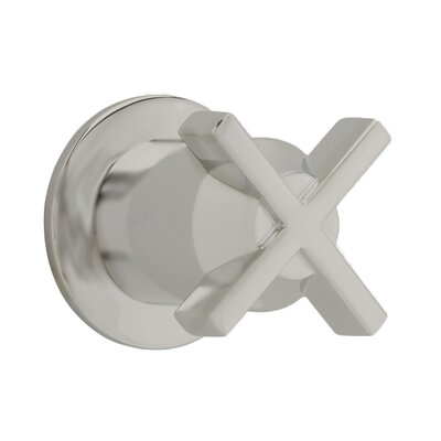 Berwick On/Off Volume Control Shower Faucet Trim with Cross Handle Finish: Satin Nickel