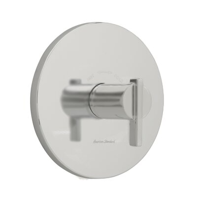 Berwick Central Thermostatic Shower Faucet Trim with Lever Handles Finish: Satin Nickel