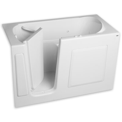 59.5 x 29.75 Gelcoat Left Hand Walk-In Air Combo Finish: White
