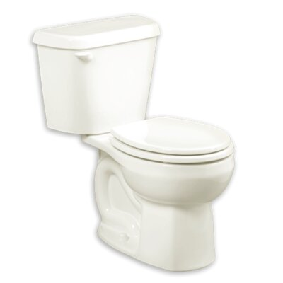 Colony 1.6 GPF Round Two-Piece Toilet Finish: White, Seat Type: Elongated