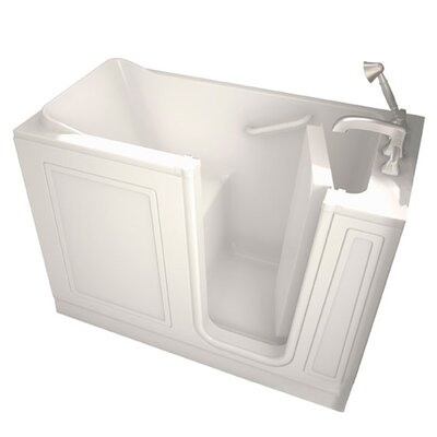 Acrylic 51 x 26 Walk-In Air/Whirlpool Bathtub with Air Spa and Drain Color: Linen, Drain Location: Right