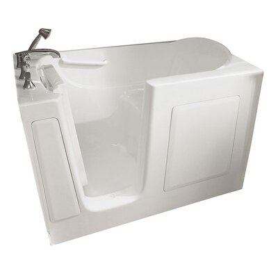 60 x 30 Drain Walk In Whirlpool Tub Drain Location: Left, Color: Linen