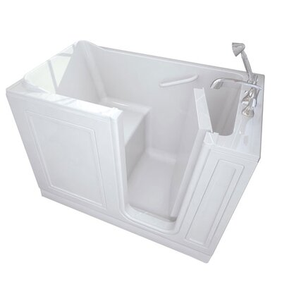 48 x 28 Walk-In Right Hand Air Spa Finish: Linen
