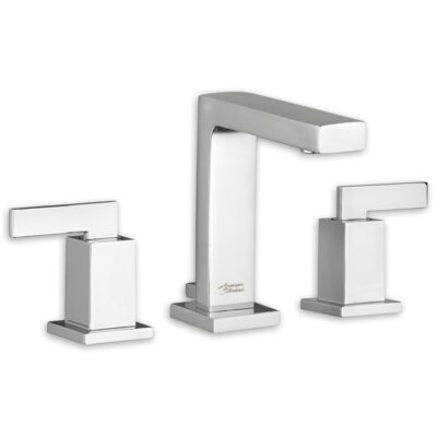 Times Square Standard Bathroom Faucet Double Handle with Drain Assembly Finish: Brushed Nickel