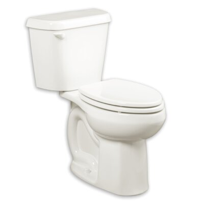 Colony 1.28 GPF Elongated Two-Piece Toilet Finish: White