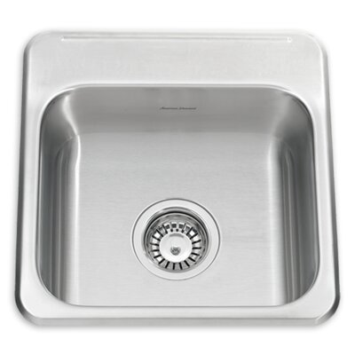 Ada 15.13 x 15.44 Kitchen Sink Faucet Drillings: 1 hole