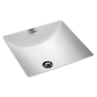 Studio Care Square Undermount Bathroom Sink with Overflow Sink Finish: White