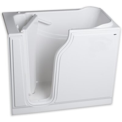51.5 x 29.75 Gelcoat Left Hand Walk-In Air Spa Finish: White