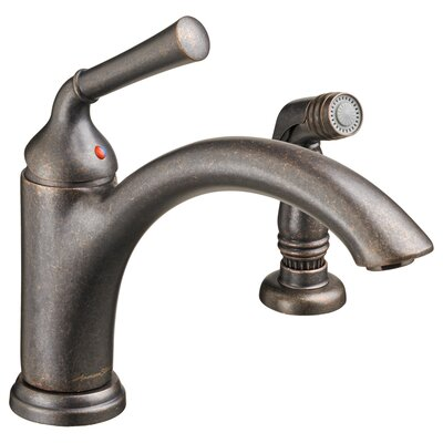 Portsmouth Single handle Kitchen Faucet with Side Spray Finish: Oil Rubbed Bronze