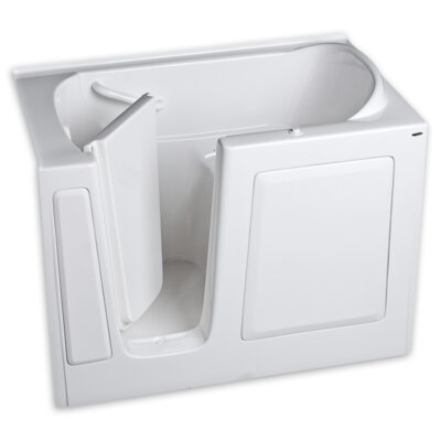 50.5 x 30.5 Gelcoat Left Hand Walk-In Air Spa Finish: White