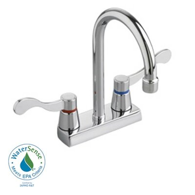 Heritage Two Handles Centerset Kitchen Faucet with Optional Handles Handle Type: Vandal Resistant Brass Wrist Blade