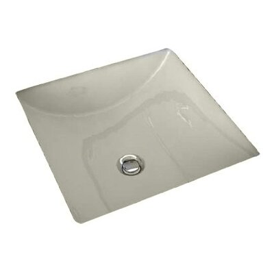 Studio Vitreous China Square Undermount Bathroom Sink with Overflow Sink Finish: Linen