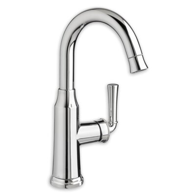 Portsmouth Single handle Deck Mounted Sink Faucet Finish: Stainless Steel, Flow Rate: 1.5