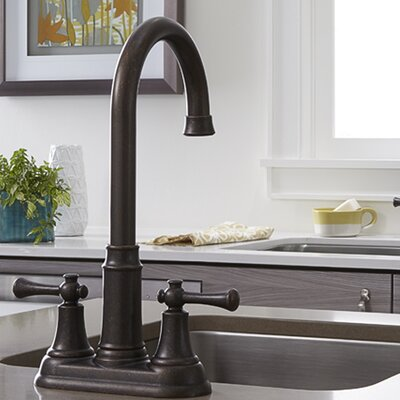 Portsmouth Double Handle Deck Mounted Kitchen Faucet