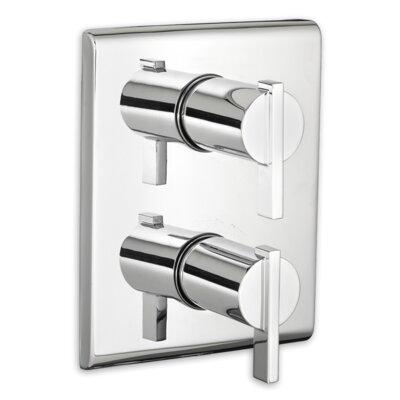 Times Square Thermostat Trim Double Handle Finish: Chrome