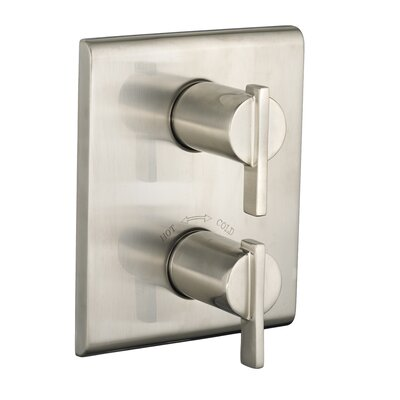 Times Square Thermostat Trim Double Handle Finish: Satin Nickel