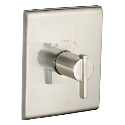 Times Square Central Thermostat Trim Single Handle Finish: Satin Nickel