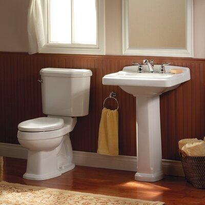 Portsmouth Suite Pedestal Sink Finish: White