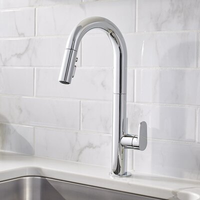 Beale Single-Handle Pull Down Kitchen Faucet Finish: Polished Chrome