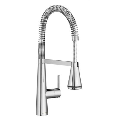 Edgewater Semi-Professional Kitchen Faucet with Select Flo Finish: Polished Chrome