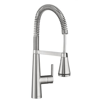 Edgewater Semi-Professional Kitchen Faucet with Select Flo Finish: Stainless Steel
