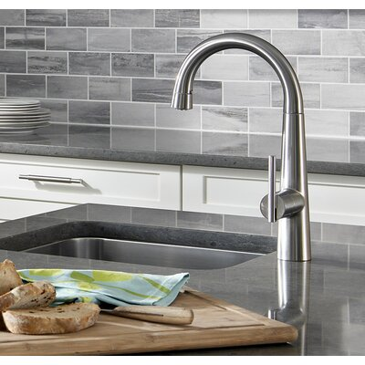 Edgewater Pull Down Bar Faucet Finish: Stainless Steel