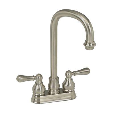 Hampton Double Mounted Deck Mounted Bar Sink Faucet Finish: Satin