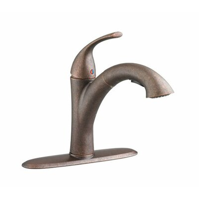 Quince Pull Out Single Handle Kitchen Faucet Finish: Oil Rubbed Bronze