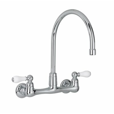 Heritage Double Handle Wall Mounted Kitchen Faucet