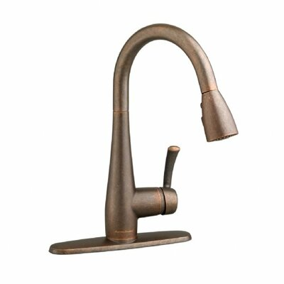 Quince Single Handle Deck Mounted Kitchen Faucet Finish: Oil Rubbed Bronze