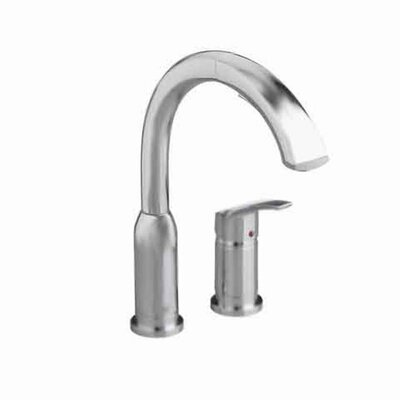 Arch Single Handle Deck Mounted Kitchen Faucet Finish: Stainless Steel