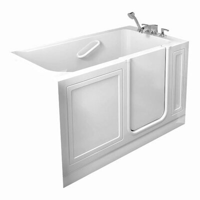 48 x 50 Walk-In Right Hand Whirpool Finish: White