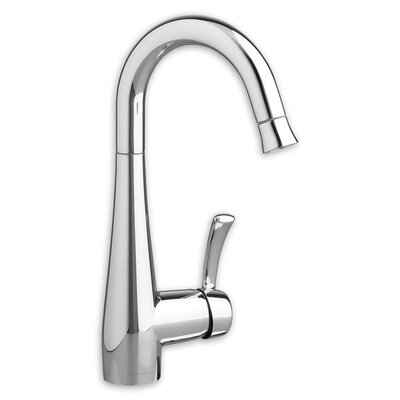 Quince Single Handle Deck Mounted Kitchen Faucet Finish: Chrome