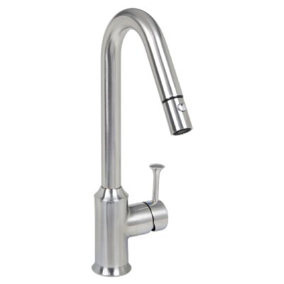 Pekoe Single Handle Deck Mounted Kitchen Faucet Finish: Stainless Steel