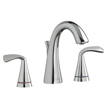 Fluent Widespread Bathroom Faucet Double Handle with Drain Assembly Finish: Polished Chrome