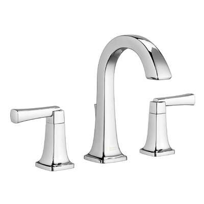Townsend High Arc Bathroom Faucet Double Handle with Drain Assembly Finish: Polished Chrome